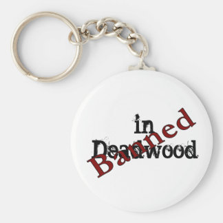 Banned in Deadwood Basic Round Button Key Ring