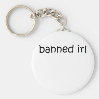 Banned IRL Basic Round Button Key Ring