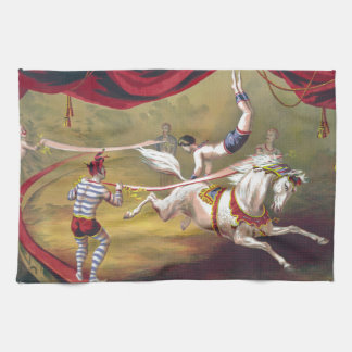 Banner Act Vintage Circus Art Tea Towel