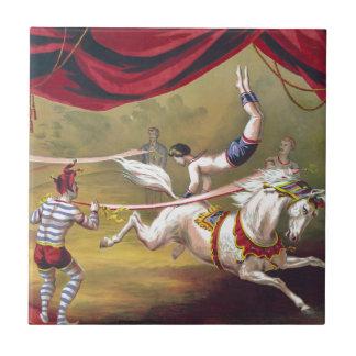 Banner Act Vintage Circus Art Tile