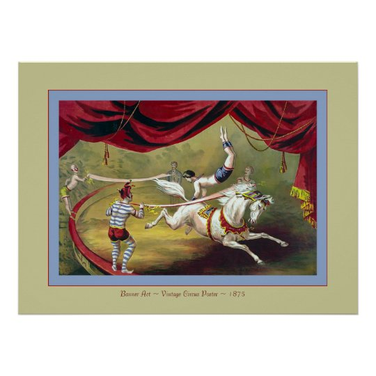Banner Act  ~ Vintage Circus Poster