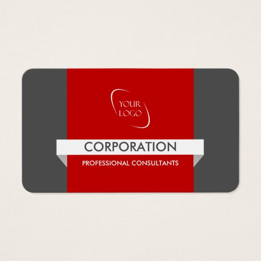 Banner and logo professional red business cards