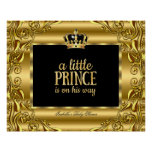 Banner Baby Shower Little Prince Gold Black 3 Poster