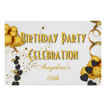 Banner Birthday Celebration Choose your Colour Poster