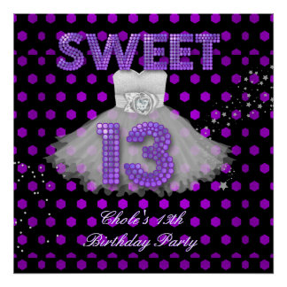 Banner Birthday Sweet 13 Poster