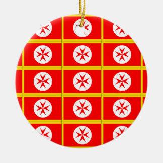 Banner of the Navy Tuscany Medici Round Ceramic Decoration