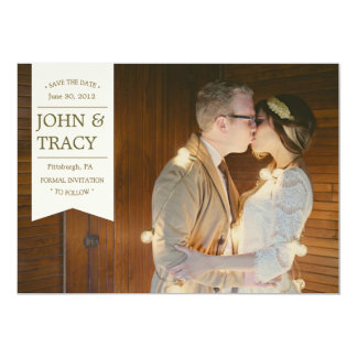 Banner Photo Save the Date Card 13 Cm X 18 Cm Invitation Card