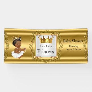 Banner Princess Baby Shower Gold White Ethnic