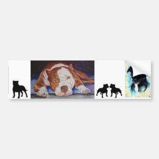 Banner - Sticker Car, Pit Bull/Staffy