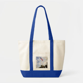 BANNER YET WAVE AMERICAN FLAG TOTE