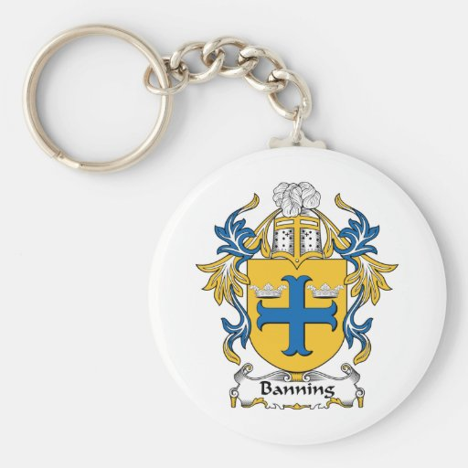 Banning Family Crest Keychain