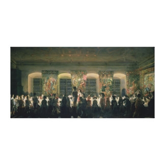 Banquet at Night, 1640 Gallery Wrap Canvas