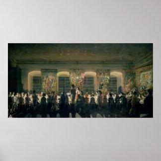 Banquet at Night, 1640 Poster