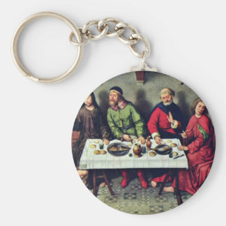 Banquet At The House Of Simon By Bouts Dieric Basic Round Button Key Ring