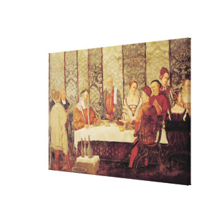 Banquet Given by Bartolomeo Colleoni Stretched Canvas Prints