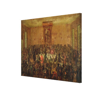 Banquet Given in Honour of Louis XIV  by the Canvas Print