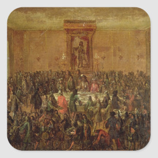 Banquet Given in Honour of Louis XIV  by the Square Sticker