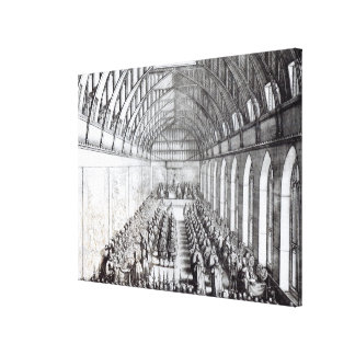 Banquet of Charles II  in St. George's Hall Canvas Print