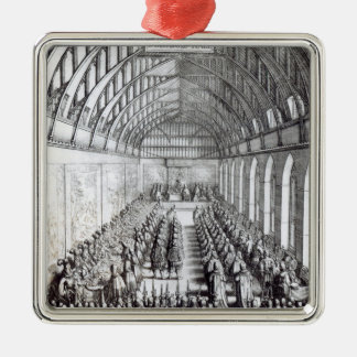 Banquet of Charles II  in St. George's Hall Christmas Ornament