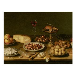Banquet still life postcard