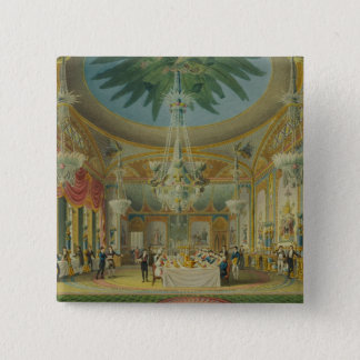 Banqueting Room, from 'Views of Royal Pavilion 15 Cm Square Badge