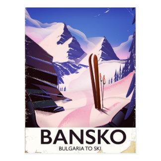 Bansko Bulgaria To Ski Postcard