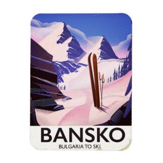 Bansko Bulgaria To Ski Rectangular Photo Magnet