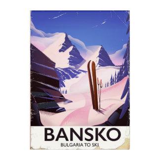 Bansko, Bulgaria To Ski travel poster Acrylic Wall Art