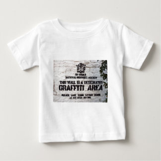 Bansky Designated Graffiti Area Baby T-Shirt