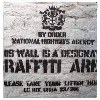 Bansky Designated Graffiti Area Napkin