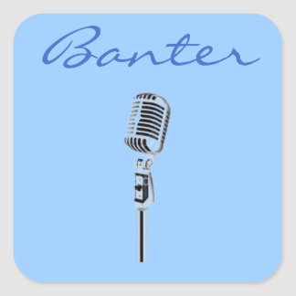 Banter Microphone Square Sticker