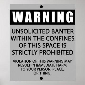 BANTER WARNING_GREY POSTER