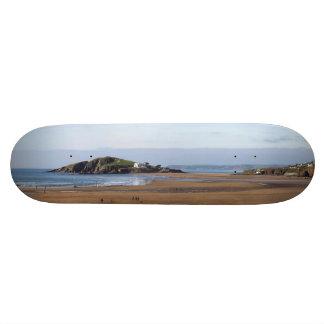 Bantham Beach and Burgh Island Custom Skate Board