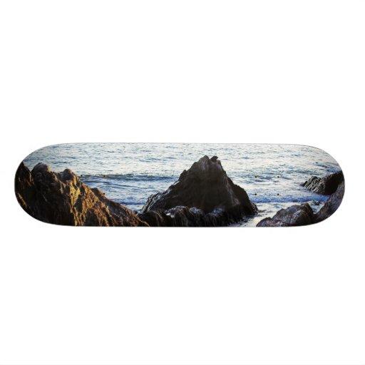 Bantham View to Burgh Island Custom Skateboard
