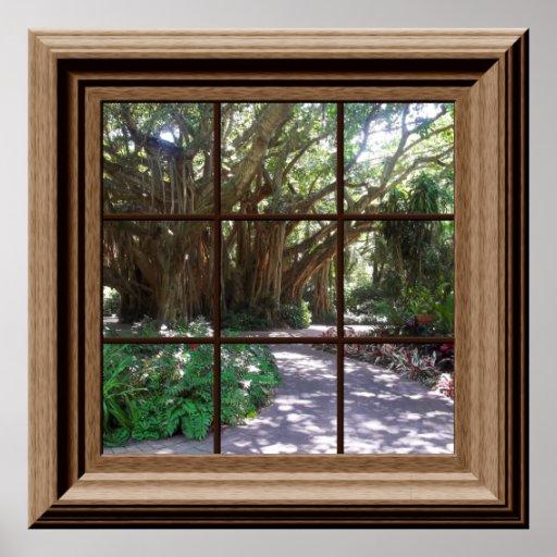 Banyan Tree Fake Window Scene Poster