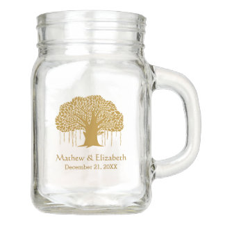 Banyan Tree Rustic Outdoor Wedding Mason Jar