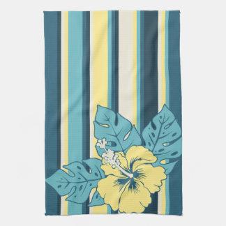 Banzai Beach Hawaiian Hibiscus Kitchen Towel