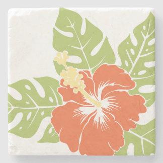 Banzai Beach Hawaiian Hibiscus Tiki Bar Coasters Stone Coaster