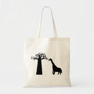 Baobab and Giraffe Tote Bag