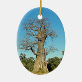BAOBAB TREE BOTSWANA CERAMIC OVAL DECORATION