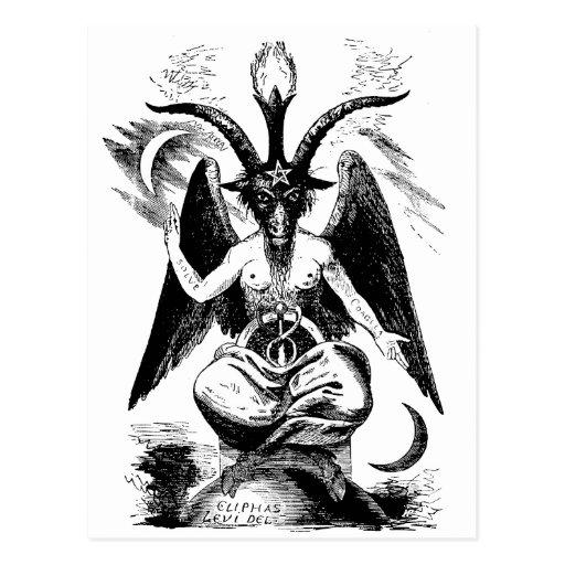 Baphomet (black) post card
