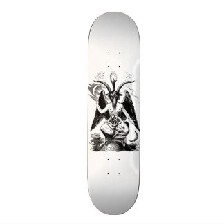 Baphomet - black print custom skateboard