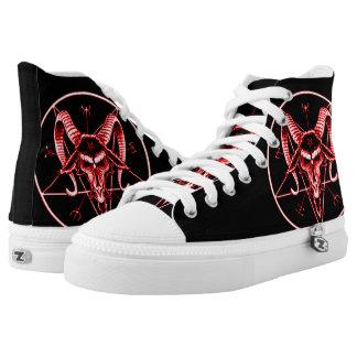 Baphomet Blood Custom Zipz High Top Kickers Printed Shoes