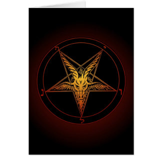 Baphomet Greeting Card