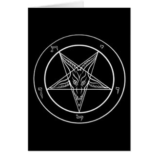Baphomet Greeting Card (Blank/Customizable)
