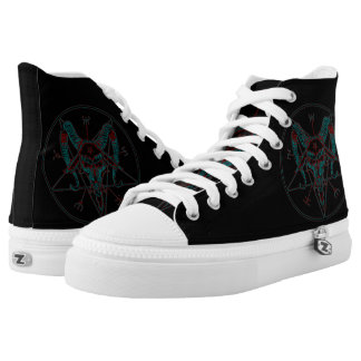 Baphomet Neo Custom Zipz High Top Kickers Printed Shoes