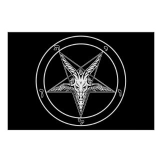 "Baphomet Old Style HUGE Poster 40""x60"""