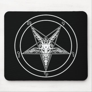 Baphomet Old Style Mouse Pad