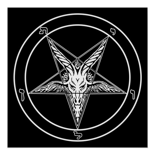 Baphomet Old Style Poster - 2-feet square