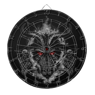 Baphomet Pentagram Black Metal Dartboard